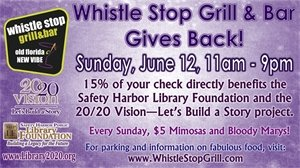 Dine at the Whistle Stop on June 12 to support the Library!