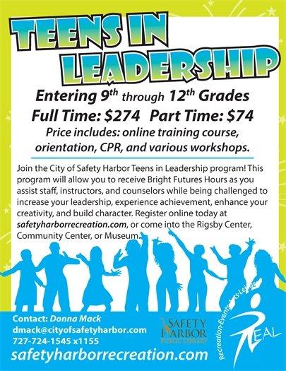 Teens in Leadership Needed
