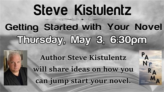 Steve Kistulentz, Thursday, May 3, 6:30 pm